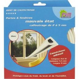 Joint de calfeutrage - Blanc - 10 M - PVM