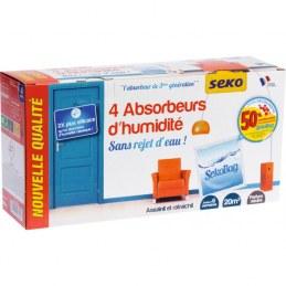 4 sachets de recharge pour absorbeur d'humidité - SEKO