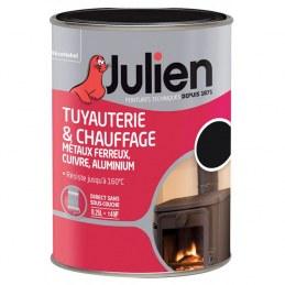 Peinture Tuyauterie et chauffage - Noir Brillant - 250 ml - JULIEN