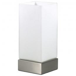 Lampe à poser en acier et verre - Blanc - Touch - RANEX