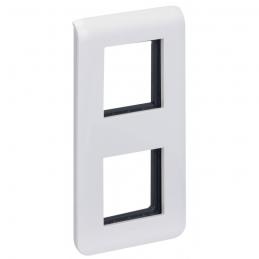 Plaque avec support Mosaic - pour 2 x 2 modules montage vertical - Blanc - LEGRAND