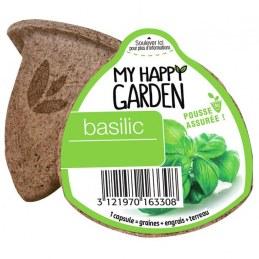 Capsule prête à planter- Basilic - MY HAPPY GARDEN