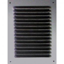 Grille de ventilation sans moustiquaire - métal - Verticale - 240 x 140 mm - Aluminium - DMO