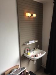 Applique de miroir de salle de bain - Acier et verre - Borgia - RANEX