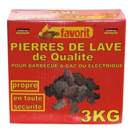 Pierre de lave - 3 Kgs - FAVORIT