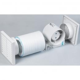 Kit extracteur complet pour cabine de douche - 90m³/h - 100 mm - DMO
