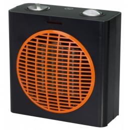 Radiateur soufflant 2000 Watts - Cube - Noir et Orange - VARMA