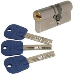 Cylindre 2 entrées INTEGRATOR Varié Nickelé - 31 x 40 mm - Mul-T-Lock