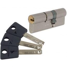 Cylindre 2 entrées 7 x 7 Varié Nickelé - Mul-T-Lock - 40 mm / 40 mm