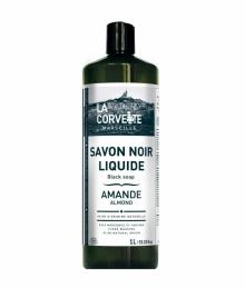 Savon noir liquide ECOCERT parfum Amande - 1 L - LA CORVETTE