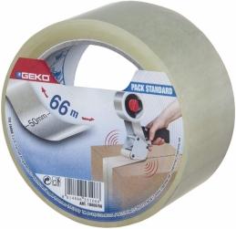 Adhésif d'emballage transparent - 66 M - GEKO