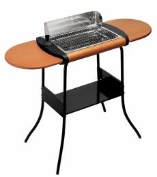 Barbecue Grill Concept® Deluxe Sur pieds - Tablettes amovibles en bois - LAGRANGE