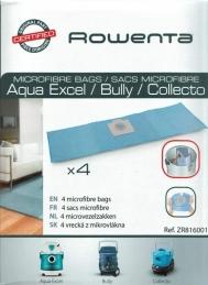4 sacs d'aspirateur en Microfibres pour Collecto & Wet & Dry - ROWENTA
