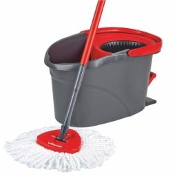 Kit seau à pédale et balai à franges - EasyWring & Clean - VILEDA