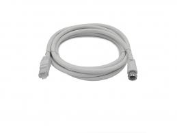 Câble antenne RJ45 Mâle/fiche F Mâle à Visser pour Réseaux VDI/VDV Grade 3 - 2 M - LINEAIRE
