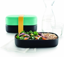 LunchBox to go - Turquoise + Couverts - LEKUÉ