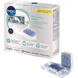 Tablettes professionnelles nettoyantes pour lave-vaisselle - 24 tablettes - WPRO