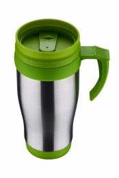 Bouteille café isotherme - Inox - Vert - 400 ml - ISOBEL
