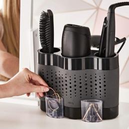 Station de rangement pour accessoires de salle de bain - Noir - MINKY