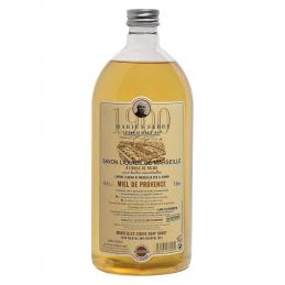 Recharge de savon de marseille liquide - Miel de provence - 1 L - MARIUS FABRE