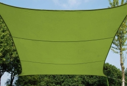 Voile d'ombrage rectangulaire Curacao Granny - 3 x 4 M - HESPERIDE