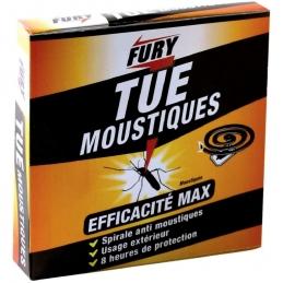 Spirales anti-moustiques - 8 heures de protection - Lot de 10 - FURY