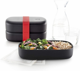 LunchBox to go - Black Édition + Couverts - LEKUÉ