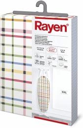 Rayen 6717.01 Housse pour table à repasser Universelle XXL | 3 épaissuers: mousse, molleton et tissu 100% coton | Gamme Medium |, Bois, Argente, 150x55 cm