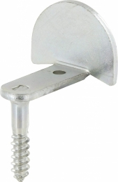 Butée de volet - Ronde coudée - A visser - 25 mm