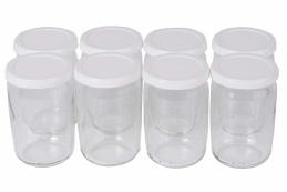 Lot de 8 pots à yaourt avec couvercle plastique - SEB