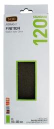 Patin abrasif avec fixation pince 115 x 280 mm - 14 trous - Grain 120 - SCID