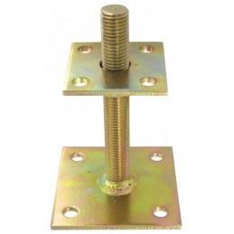 Pied de poteau à platine réglable - 30 à 150 mm - GAH ALBERTS