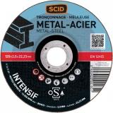 Disque à tronçonner métaux - Usage fréquent - 125 x 2.5 mm - SCID
