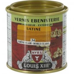 Vernis ébénisterie - Satiné - Chêne clair - 125 ml - AVEL