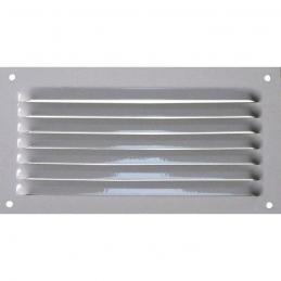 Grille de ventilation avec moustiquaire - métal - Rectangle - 190 x 100 mm - Blanc - DMO
