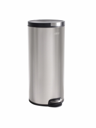 Poubelle cylindrique - finition inox brossé - 30 L - OGO
