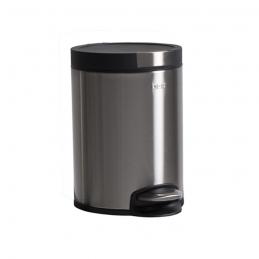 Poubelle cylindrique - finition inox brossé - 5L - OGO