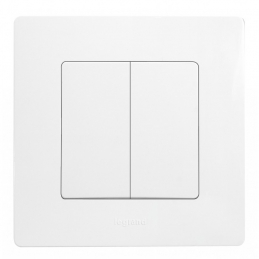 Double interrupteur ou va-et-vient avec plaque Niloé - Eclat - LEGRAND