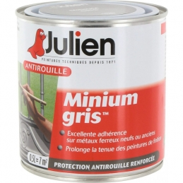 Primaire antirouille - Minium Gris - Protection anti-corrosion durable - 500 ml - JULIEN