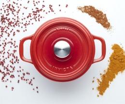 Cocotte en fonte - Rouge rubis - 28 cm - INVICTA