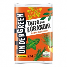 Terreau Herbes de cuisine - Terre pour bien grandir - 2.5 L - UNDERGREEN