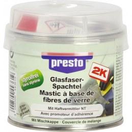Mastic polyester avec fibre de verre - 250 Grs - Gris clair - PRESTO