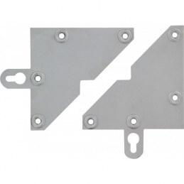 Lot de 2 plaques triangulaires avec pattes pour fixer meuble - STRAUSS VONDERWEIDT