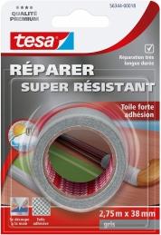 Toile adhésive super résistante - Gris - 2.75 M x 38 mm - TESA