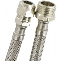 Flexible à écrou mâle + bicone - Filetage 15 x 21 mm - Diamètre 10 mm - NEPTUNE