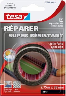 Toile adhésive super résistante - Noir - 2.75 M x 38 mm - TESA