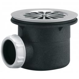 Bonde de douche - Sortie horizontale avec grille - 90 mm - NEPTUNE