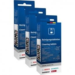 Pack de 3 boites de pastilles nettoyantes pour machines à café - BOSCH