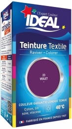 Teinture liquide pour textile - Raviver / Colorer - Violet - 40 ml - IDEAL