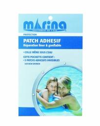 Patch adhésif pour réparation liner et piscine gonflable - MARINA